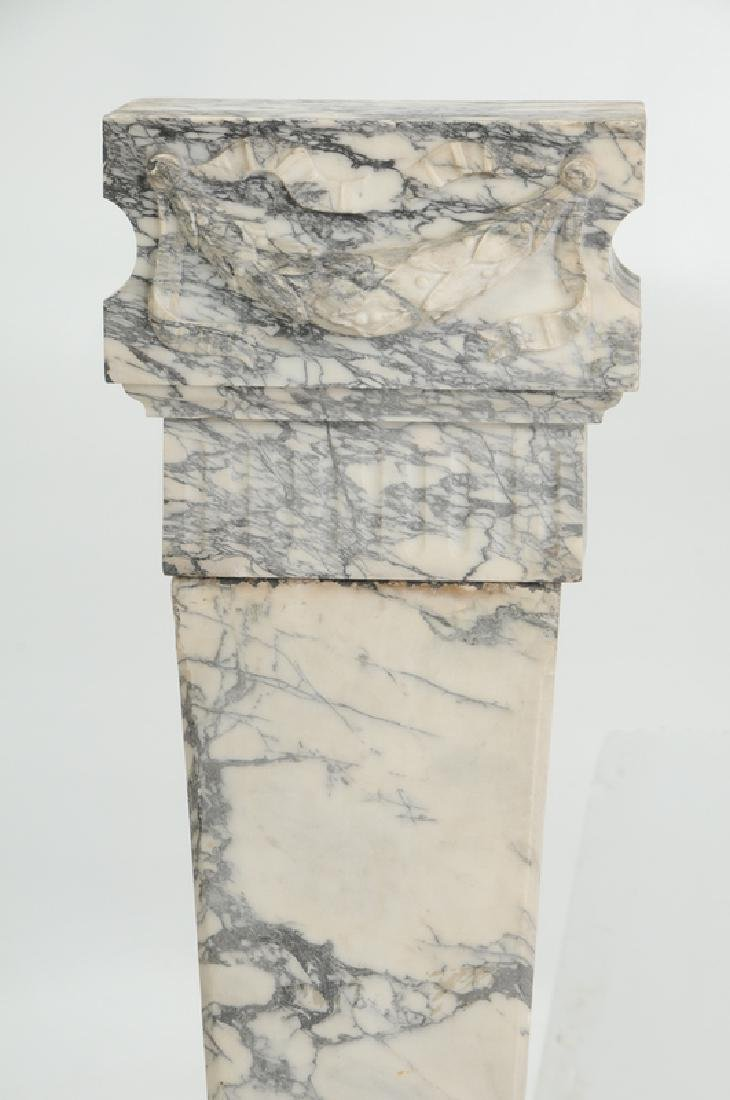 A Fine Pair Carved Marble Pedestals - 3