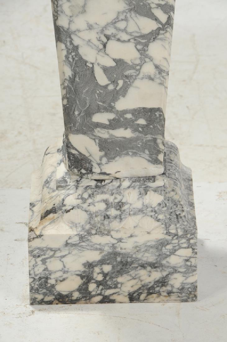A Fine Pair Carved Marble Pedestals - 6