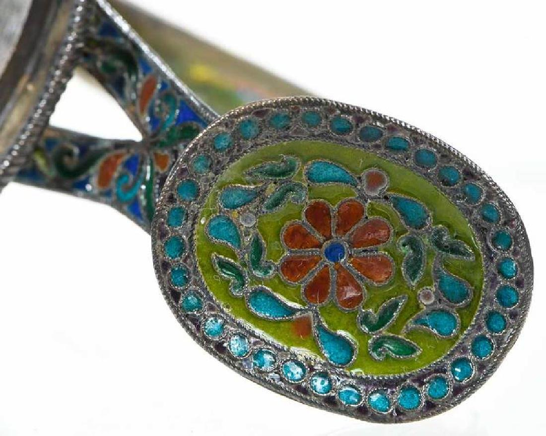 Ovchinnikov Russian Silver Plique-à-Jour Glass Holder - 9