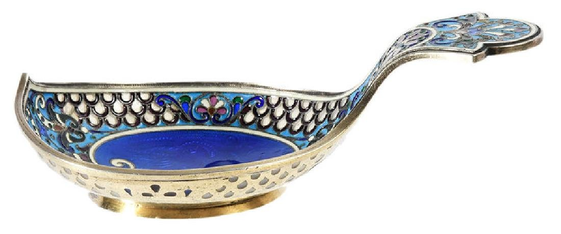 Russian Silver Kovsh, Attributed to Fabergé - 3
