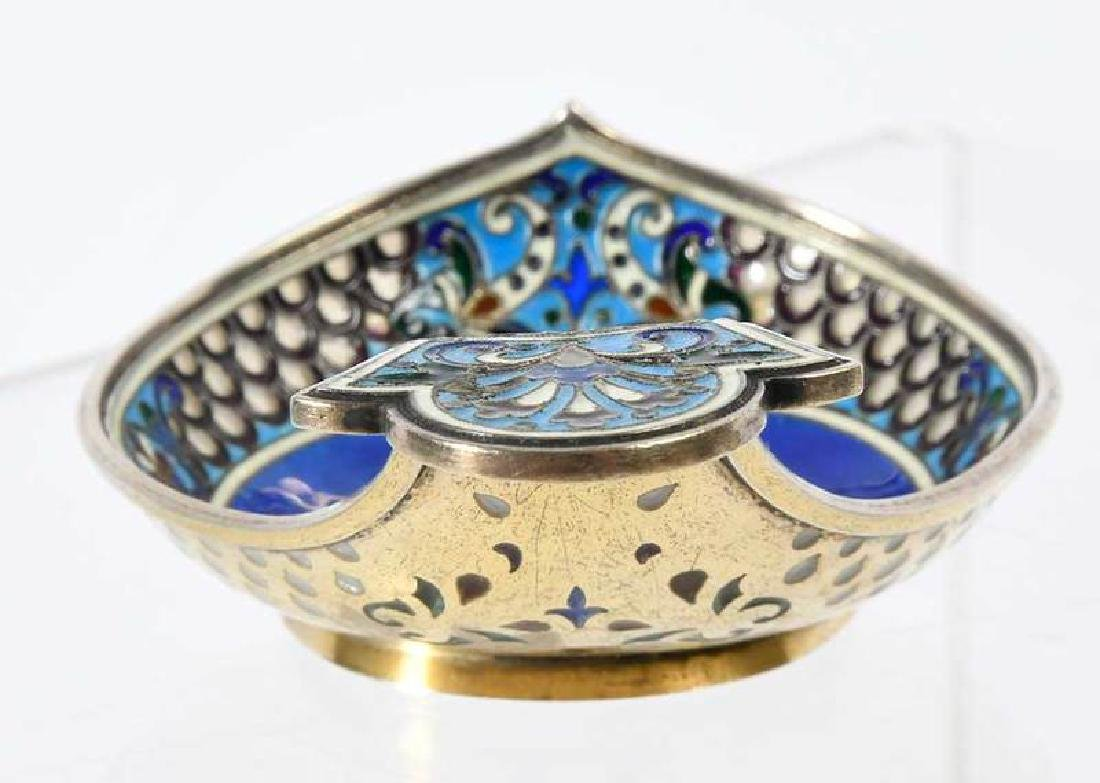 Russian Silver Kovsh, Attributed to Fabergé - 4