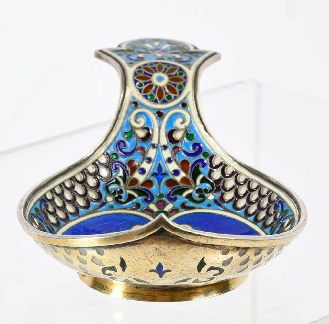 Russian Silver Kovsh, Attributed to Fabergé - 6