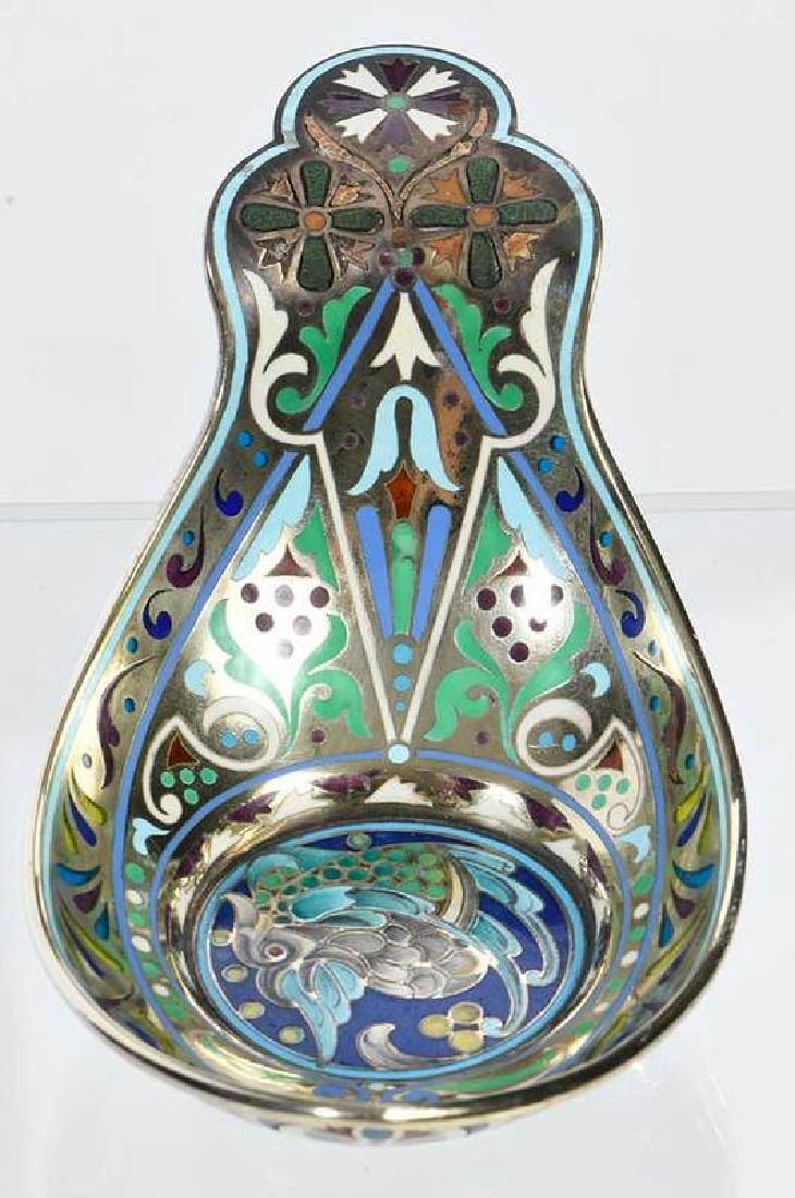 Russian Silver Plique-à-Jour Kovsh - 2