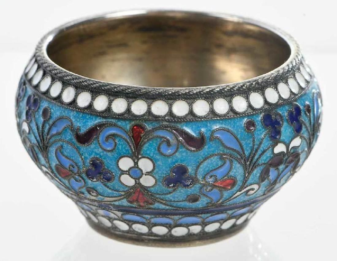 Khlebnikov Russian Gilt Silver Cloisonné Bowl - 2
