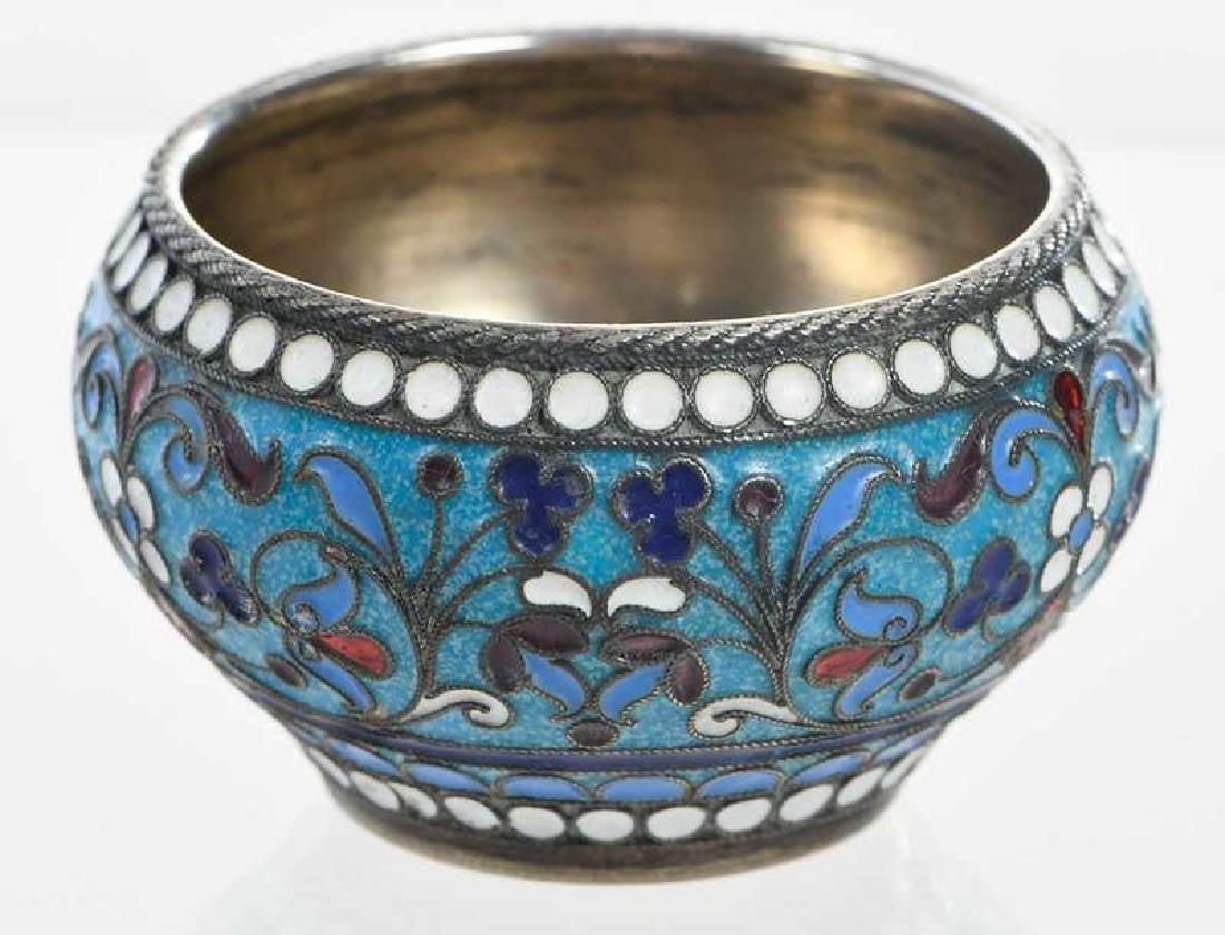 Khlebnikov Russian Gilt Silver Cloisonné Bowl - 3