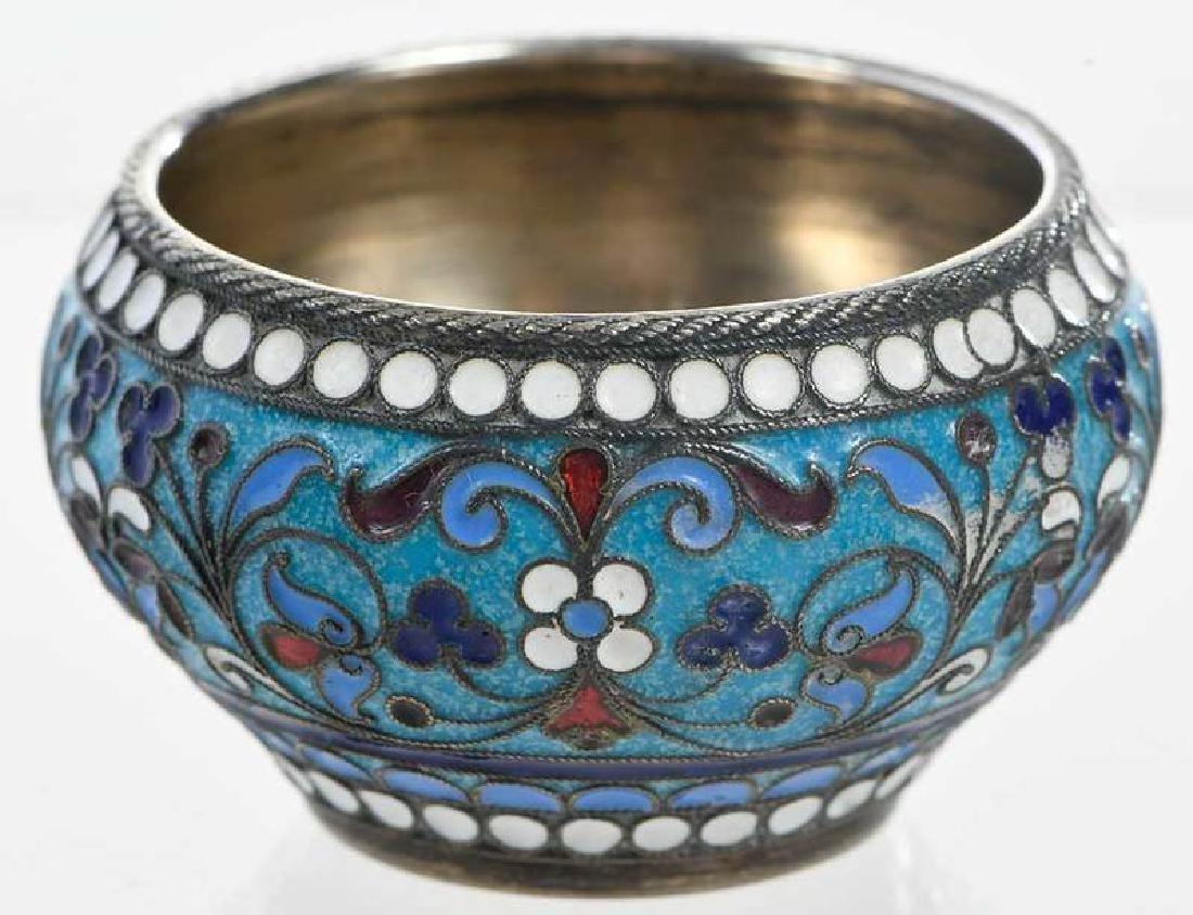 Khlebnikov Russian Gilt Silver Cloisonné Bowl - 4