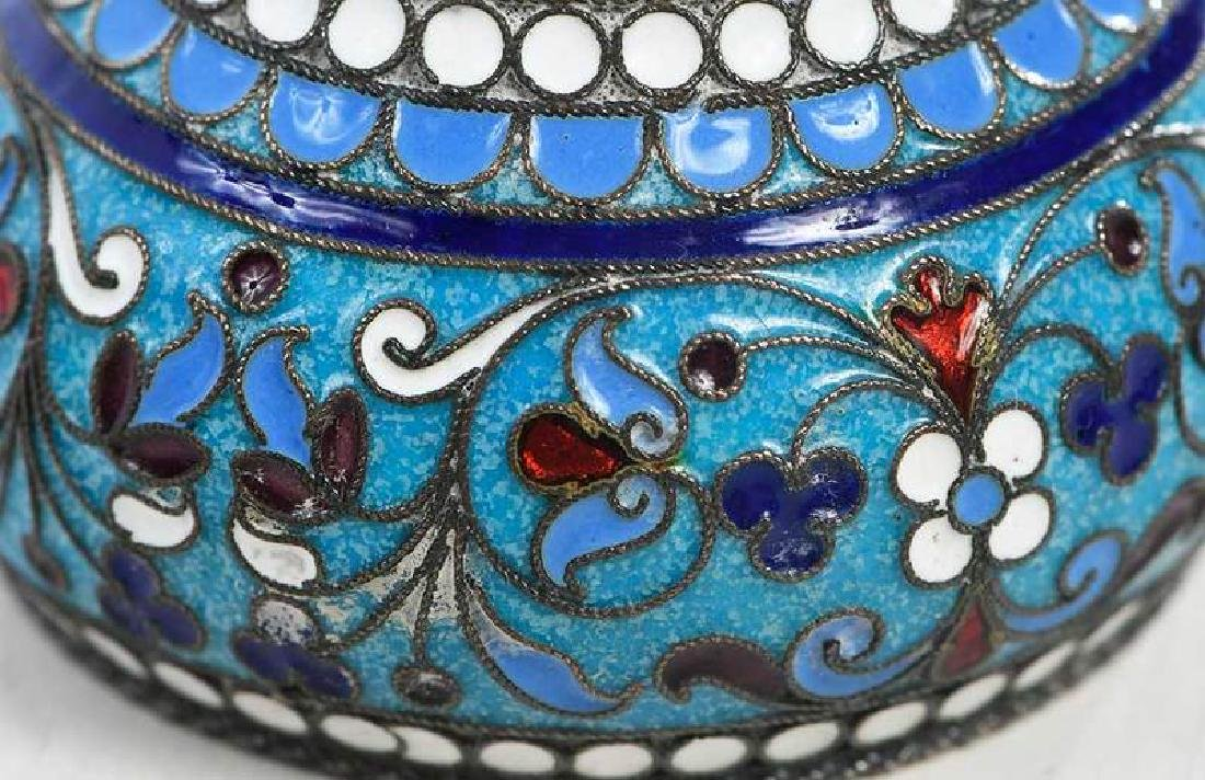 Khlebnikov Russian Gilt Silver Cloisonné Bowl - 7