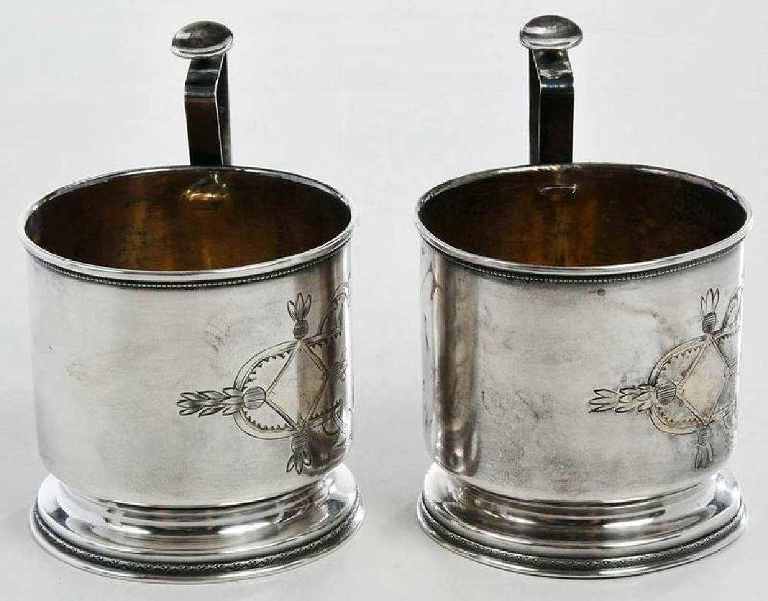 Two Russian Silver Cup Holders - 4
