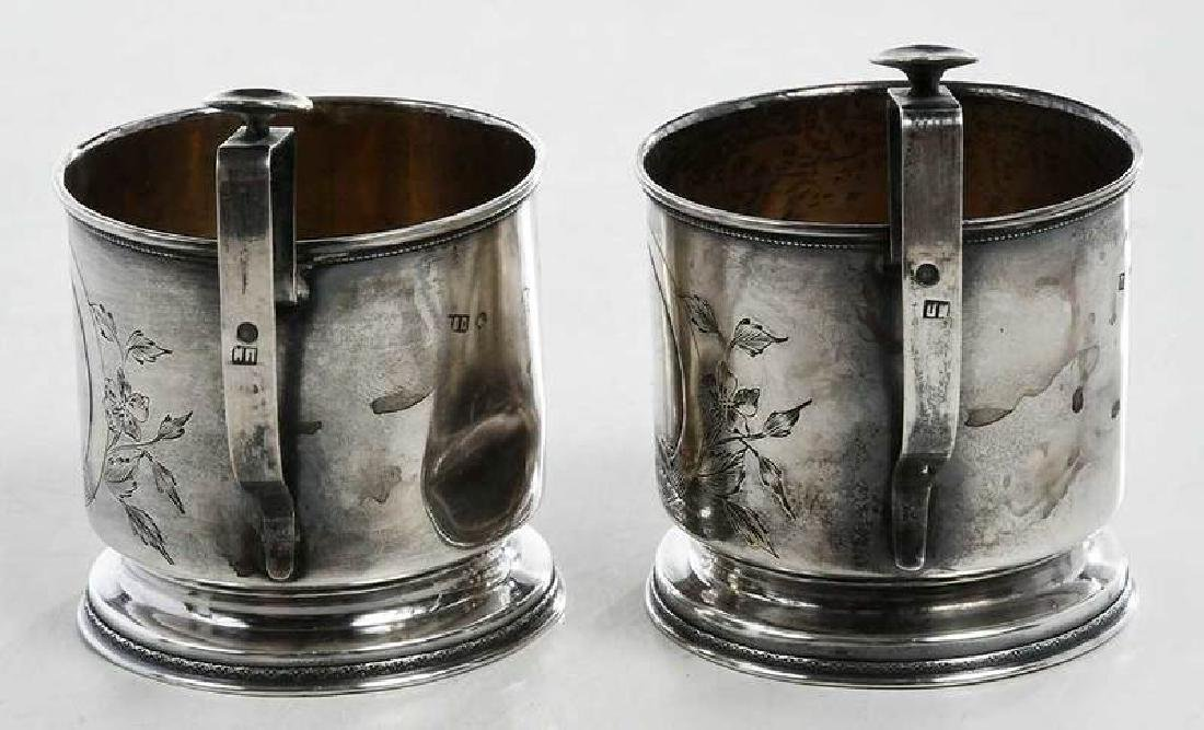 Two Russian Silver Cup Holders - 6