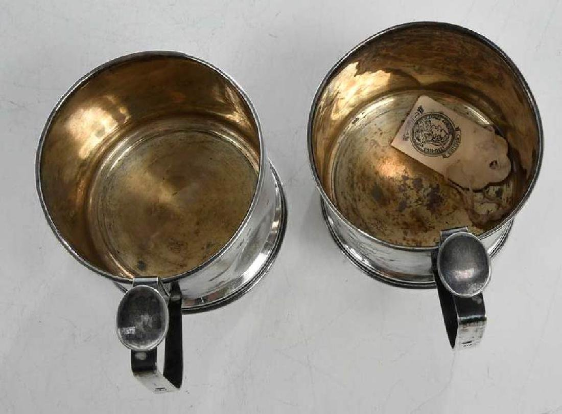 Two Russian Silver Cup Holders - 7