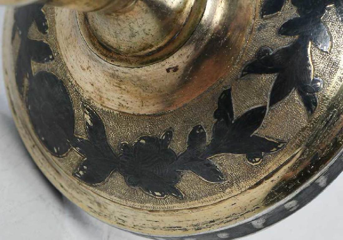Russian Gilt Silver Niello Goblet - 6