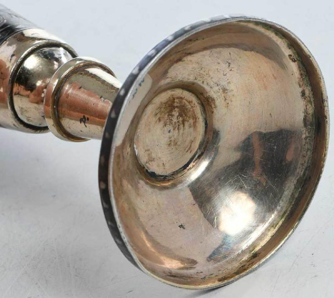 Russian Gilt Silver Niello Goblet - 7