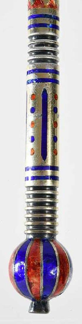 Russian Silver Enamel Spoon - 9