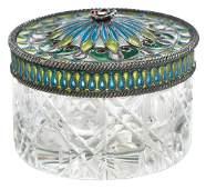 Plique-à-Jour Dresser Jar