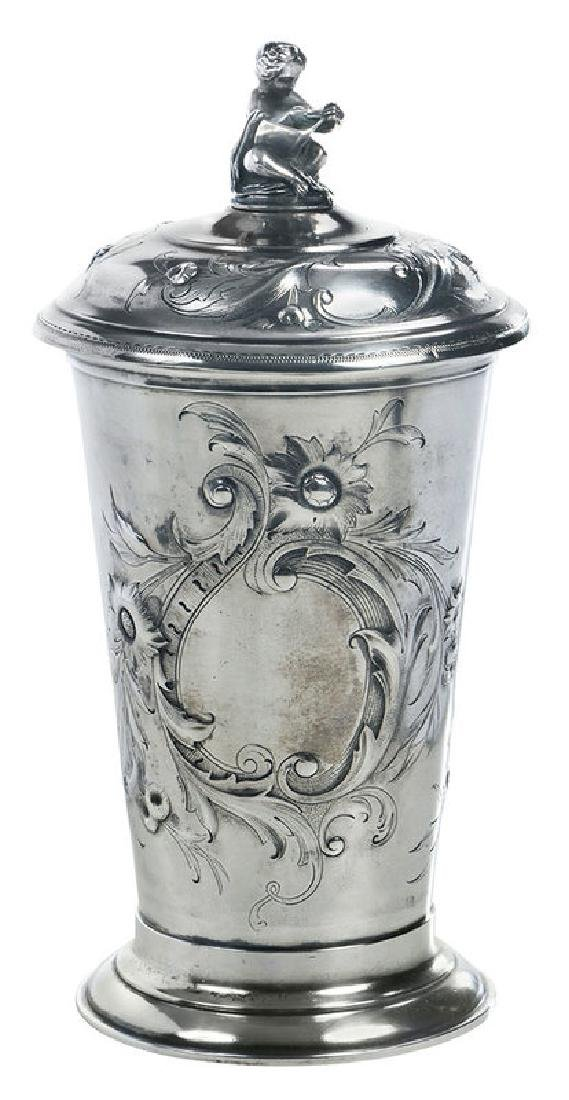 Russian Silver Lidded Cup