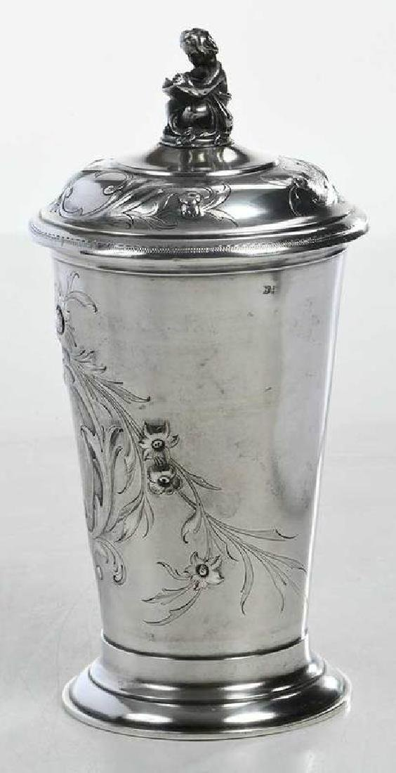 Russian Silver Lidded Cup - 4