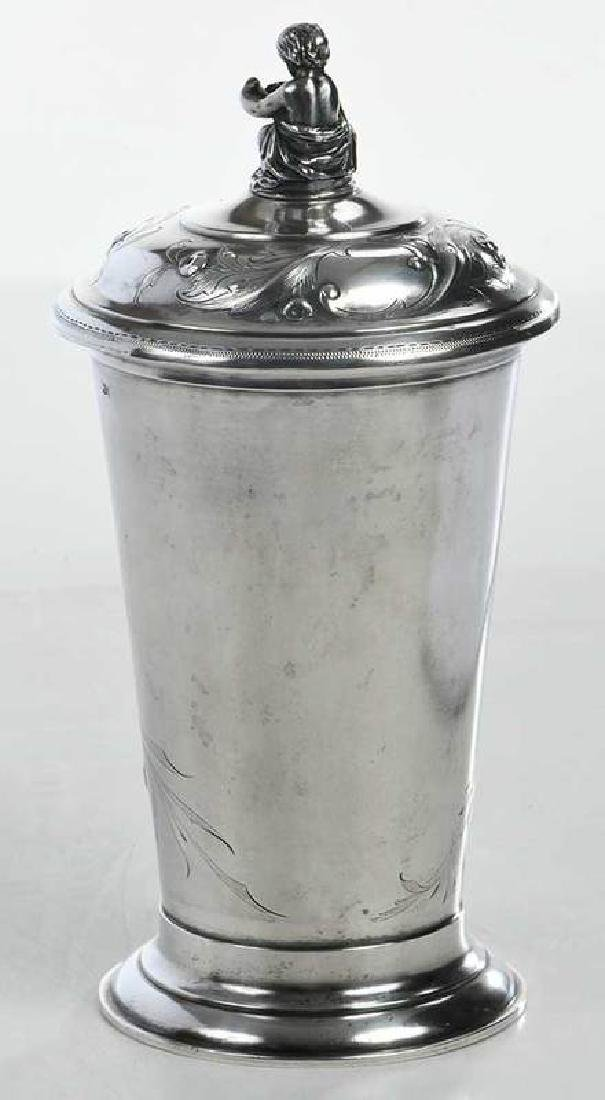 Russian Silver Lidded Cup - 6