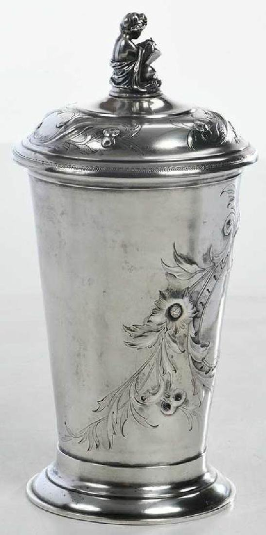 Russian Silver Lidded Cup - 7