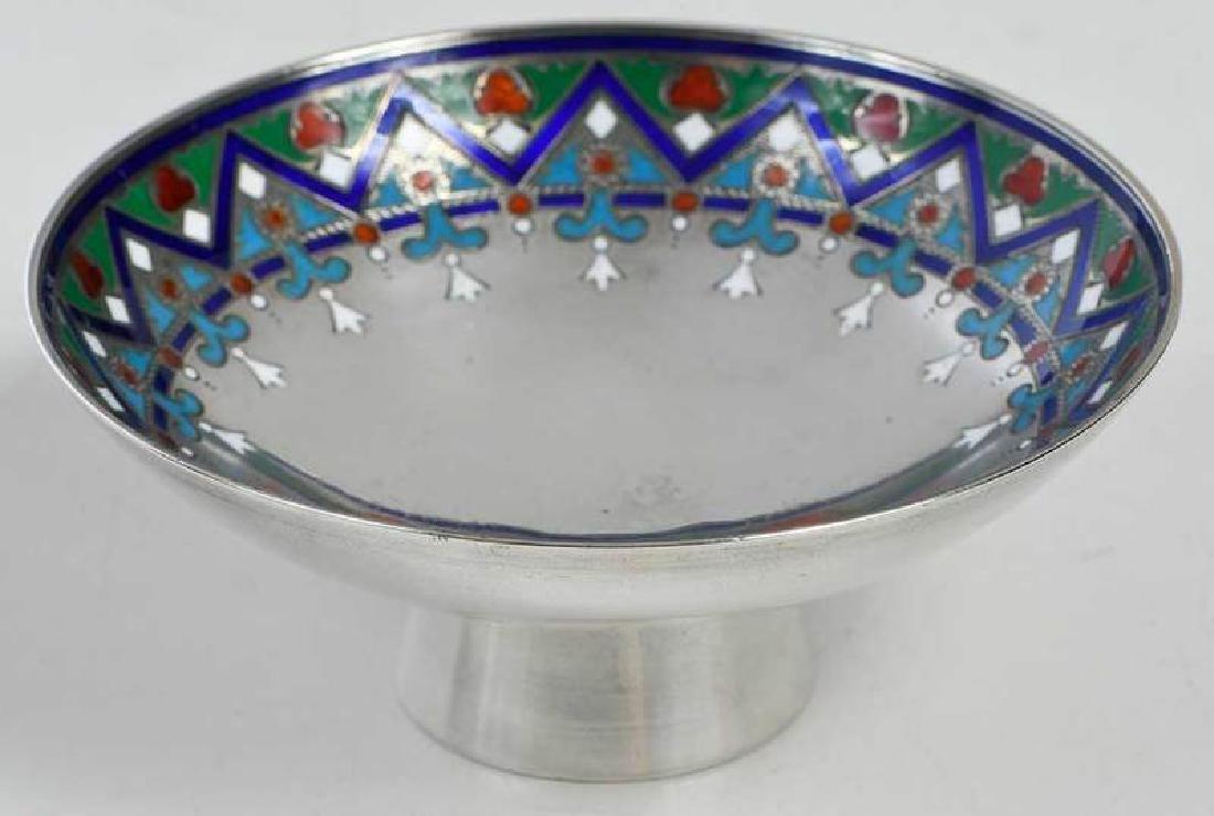 Khlebnikov Russian Silver Enamel Compote - 2