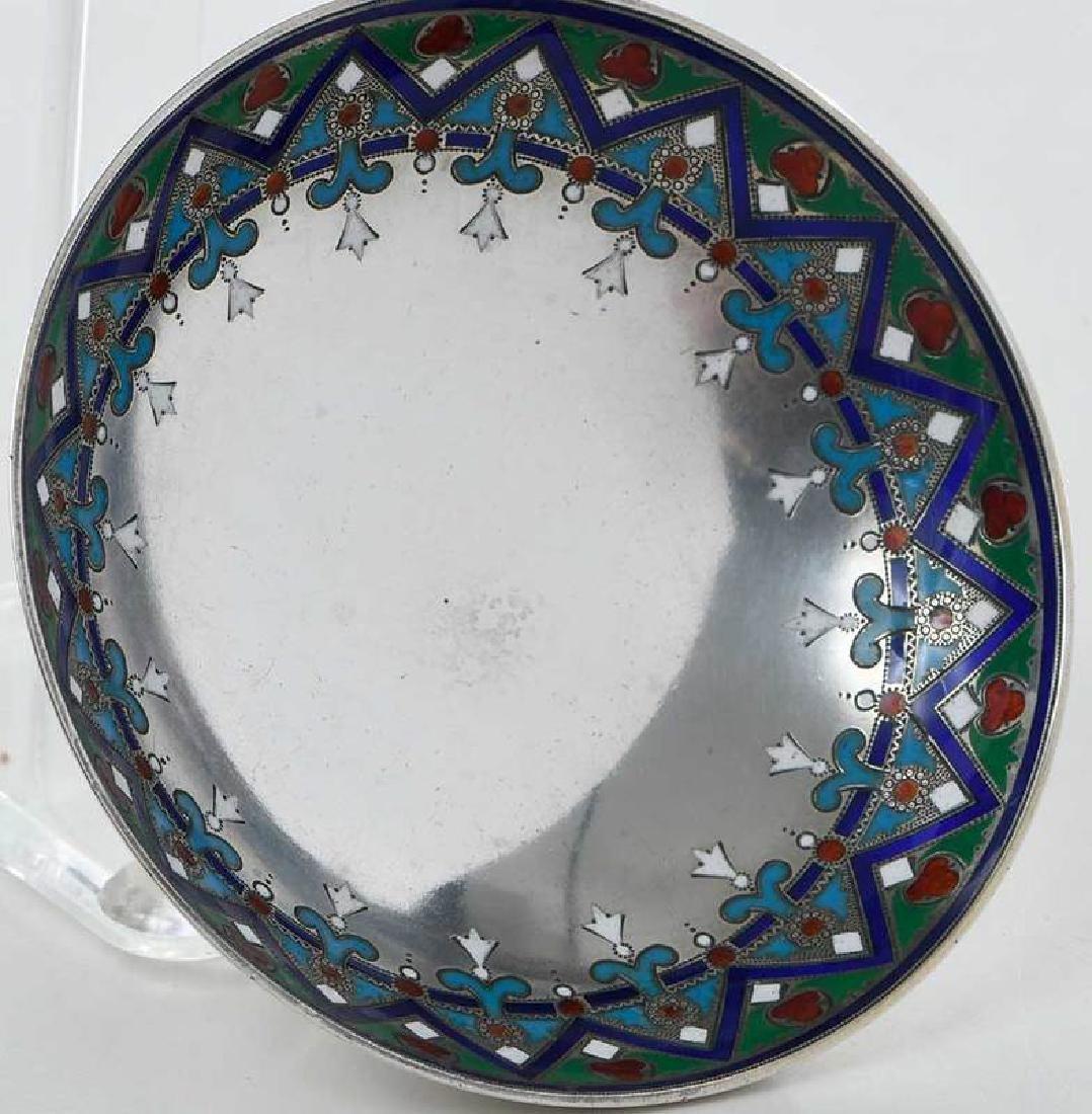 Khlebnikov Russian Silver Enamel Compote - 3