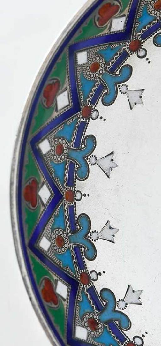 Khlebnikov Russian Silver Enamel Compote - 4