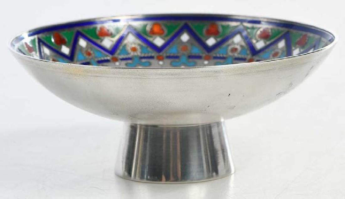 Khlebnikov Russian Silver Enamel Compote - 6