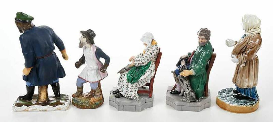 Five Russian Porcelain Figures - 7