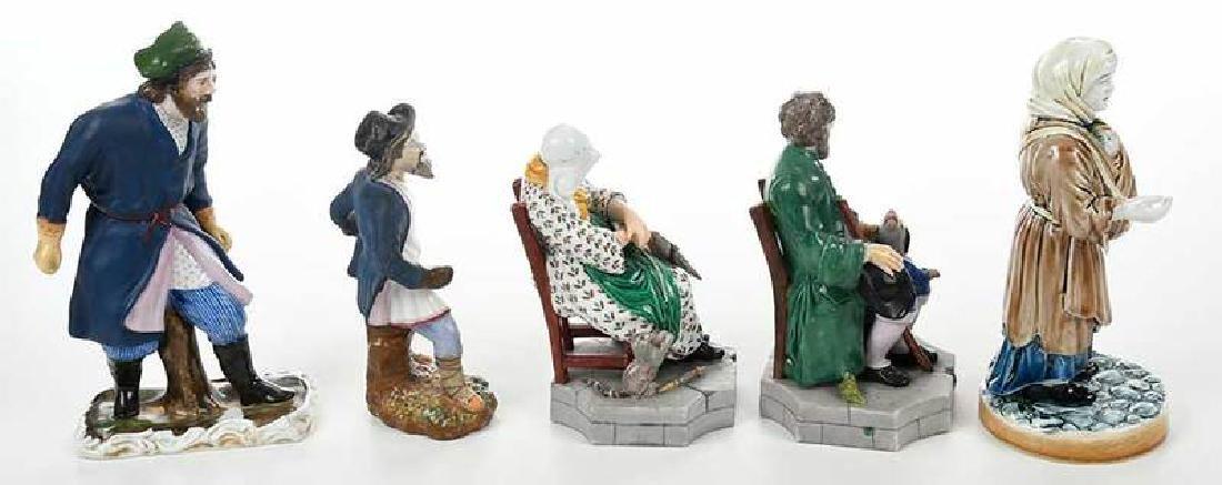 Five Russian Porcelain Figures - 9