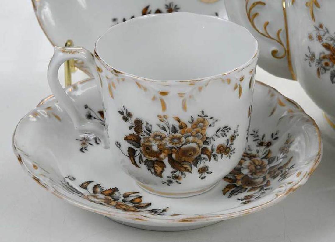 Russian Popov Factory Porcelain Tea Set - 2