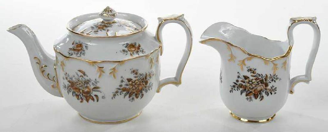 Russian Popov Factory Porcelain Tea Set - 8
