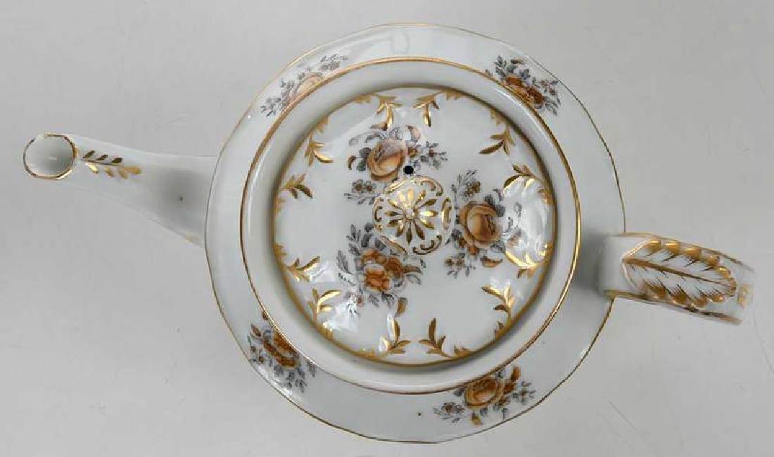 Russian Popov Factory Porcelain Tea Set - 9