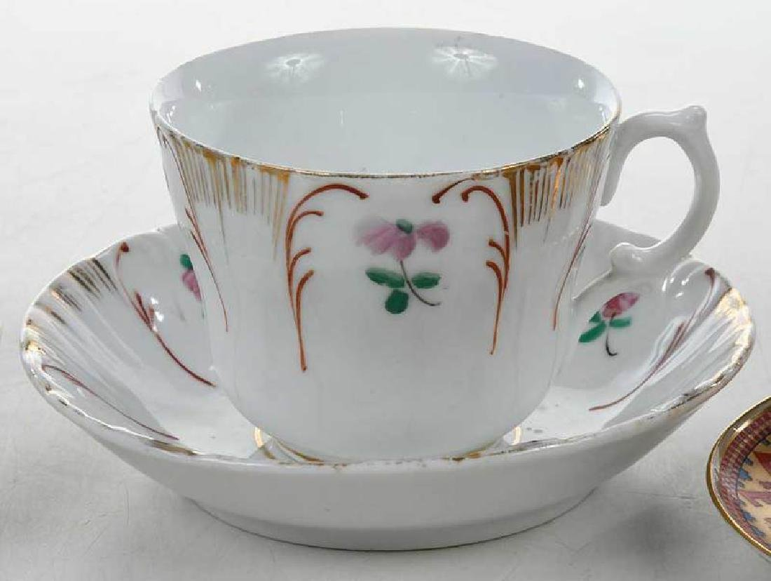 Four Russian Porcelain Cups and Saucers - 4