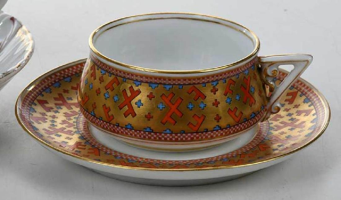 Four Russian Porcelain Cups and Saucers - 5