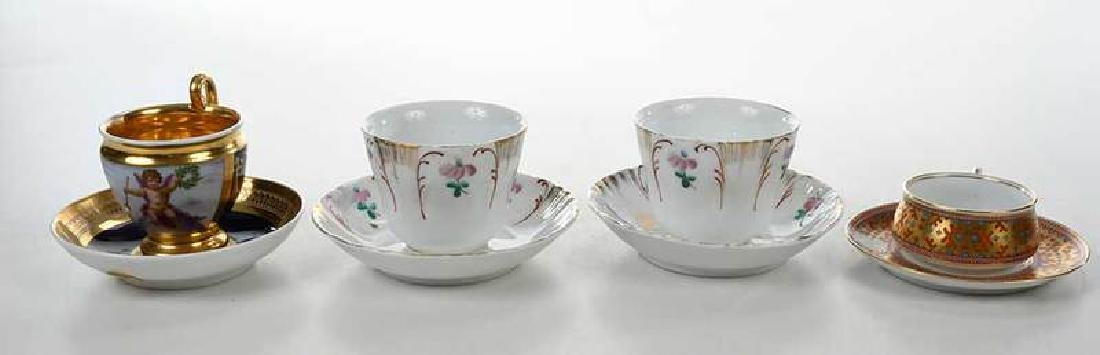 Four Russian Porcelain Cups and Saucers - 6