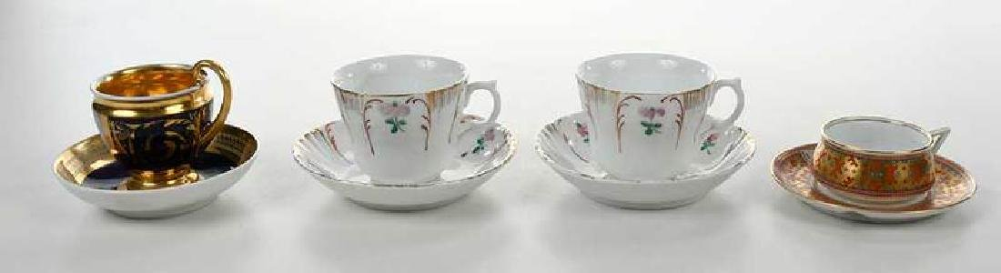 Four Russian Porcelain Cups and Saucers - 8