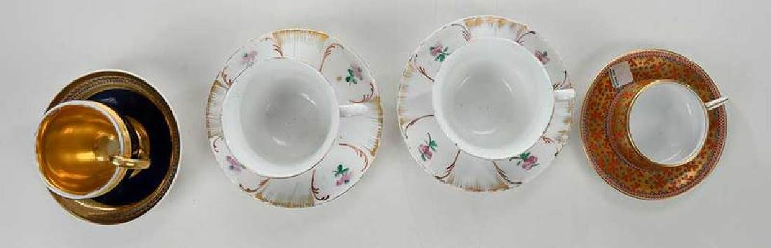 Four Russian Porcelain Cups and Saucers - 9