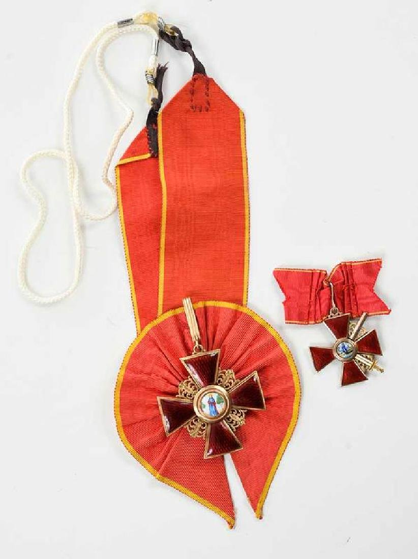 Two Russian Imperial Order of St. Anne Medals - 2