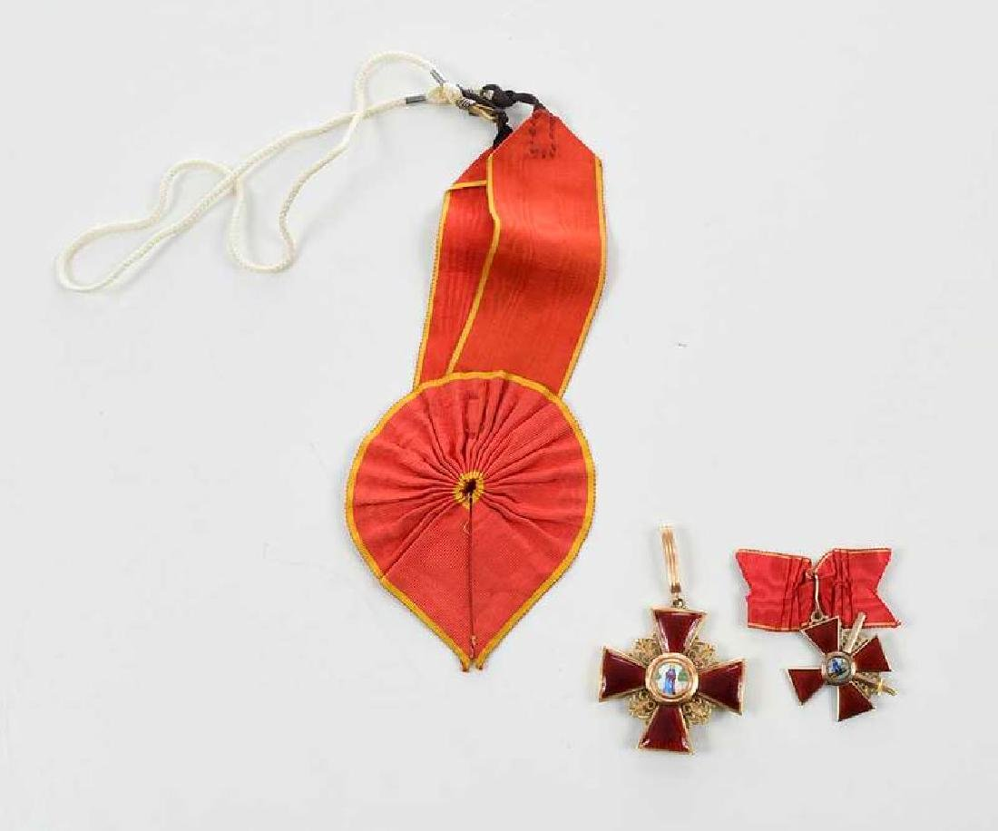 Two Russian Imperial Order of St. Anne Medals - 3