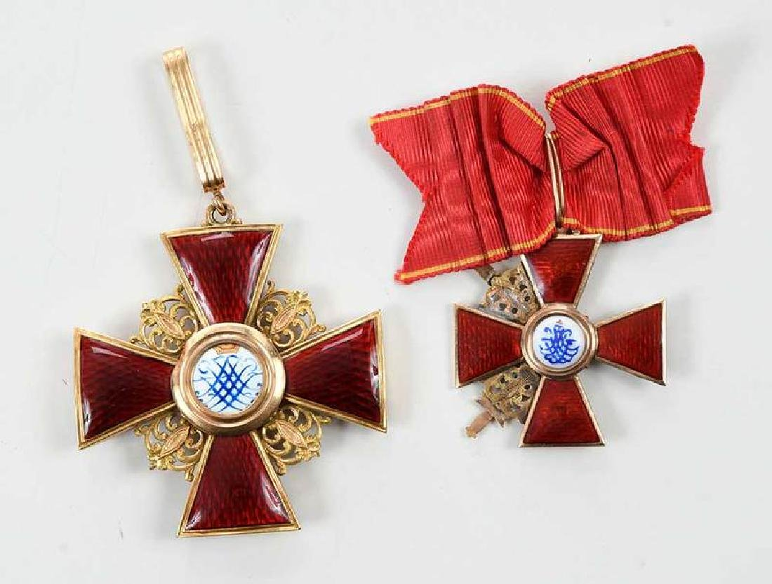 Two Russian Imperial Order of St. Anne Medals - 4