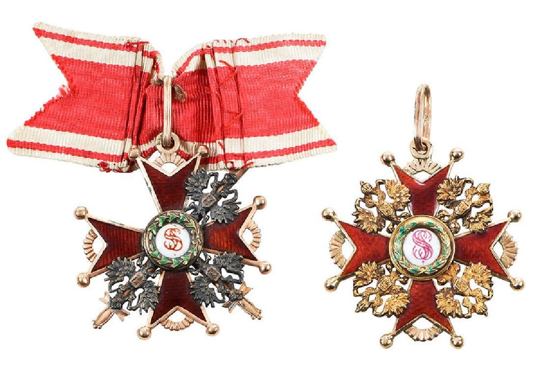 Two Russian Imperial Order St. Stanislaus Medals