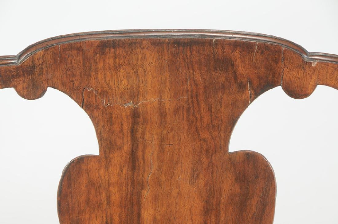 Set of Four George I Carved Walnut Side Chairs - 2