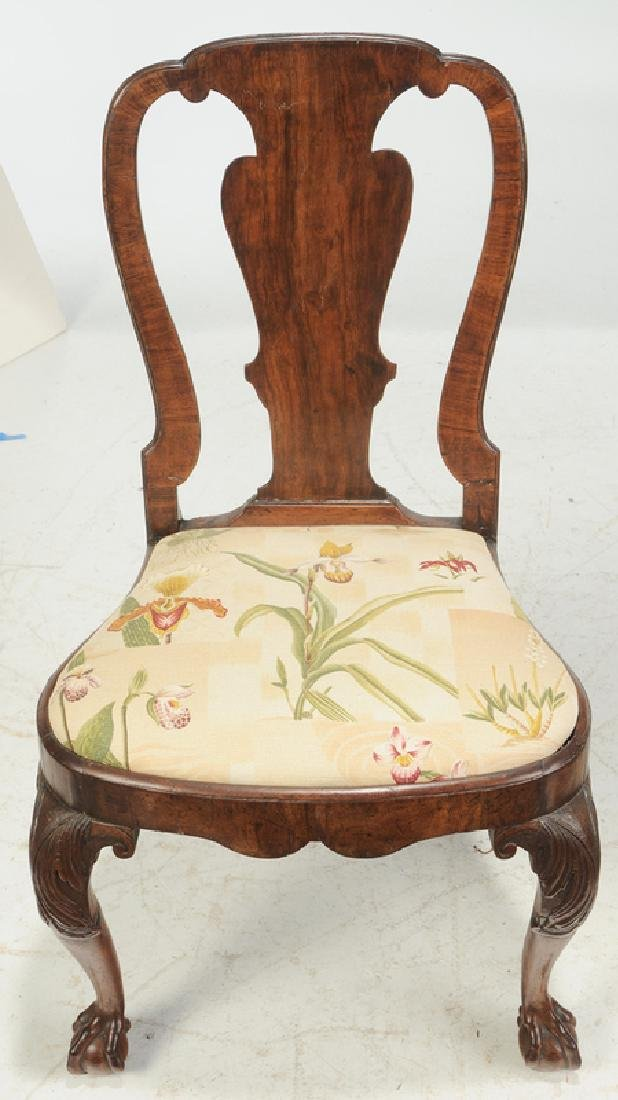 Set of Four George I Carved Walnut Side Chairs - 4