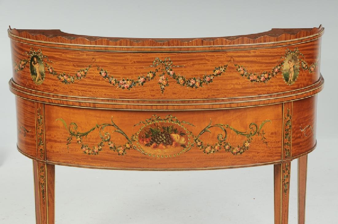 AnEdwardian Adam Style Carlton House Desk, Chair - 7