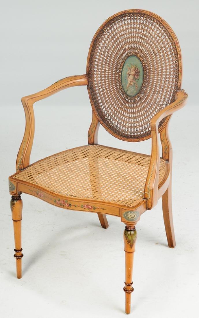 AnEdwardian Adam Style Carlton House Desk, Chair - 8