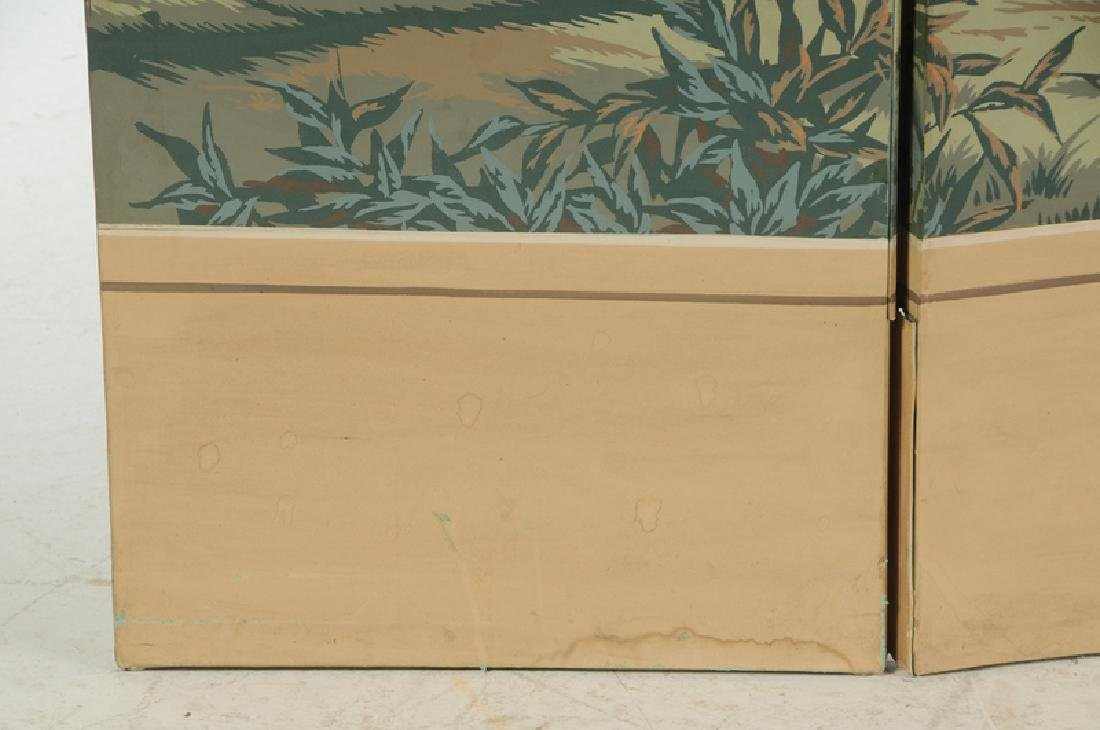 French Block Printed Four Panel Room Screen - 3