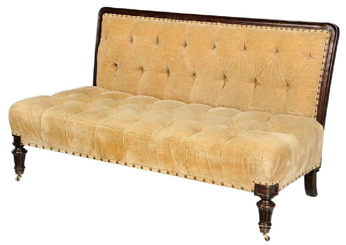A Ralph Lauren Tufted Velvet Upholstered Sofa