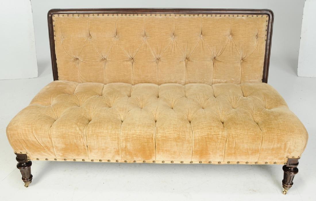 A Ralph Lauren Tufted Velvet Upholstered Sofa - 2