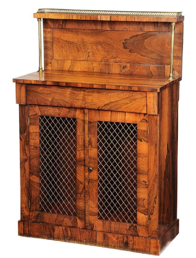 Regency Rosewood Grille Door Cabinet