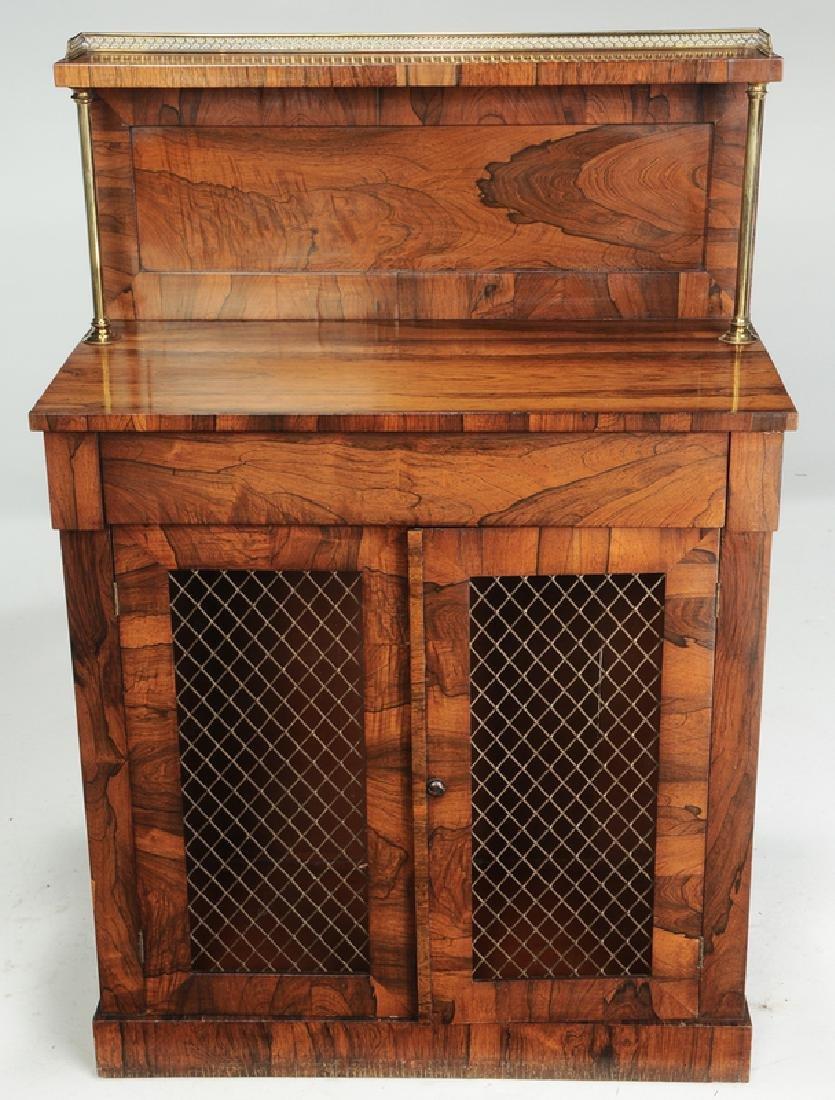 Regency Rosewood Grille Door Cabinet - 2