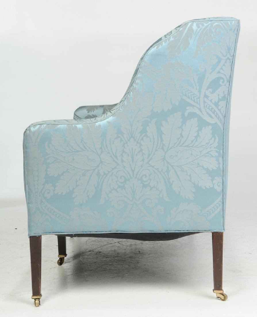 A Hepplewhite Style Damask Upholstered Sofa - 4